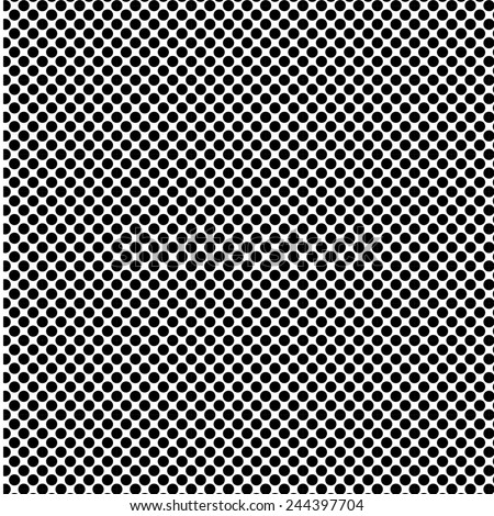 A fine polka dot texture- black and white vector pattern - stock vector