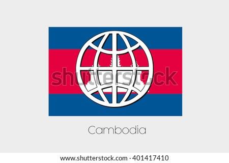 A Flag Illustration of Cambodia