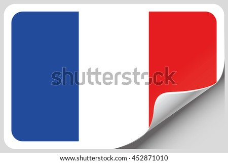 A Flag Illustration of the country of France - stock vector