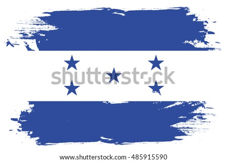 A Flag Illustration of the country of Honduras