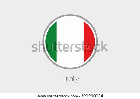 A Flag Illustration of the country of Italy - stock vector