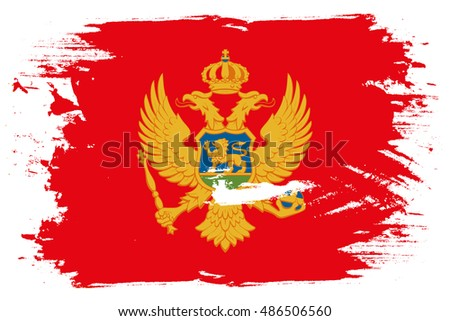 A Flag Illustration of the country of Montenegro