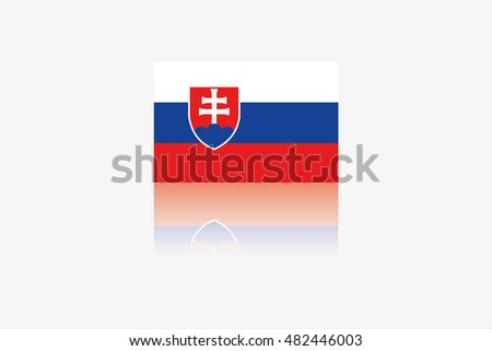 A Flag Illustration of the country of Slovakia