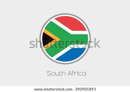 A Flag Illustration of the country of South Africa