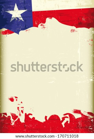 A flag of Texas with a large frame for your message - stock vector