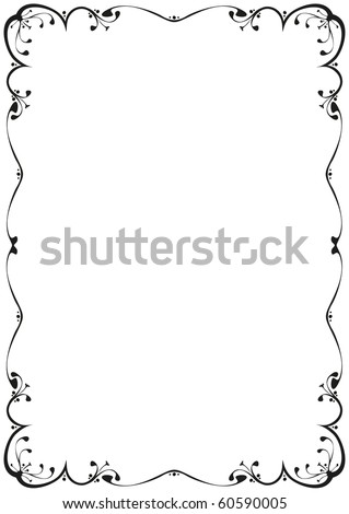 Floral Frame Black White Stock Vector (Royalty Free) 60590005 ...