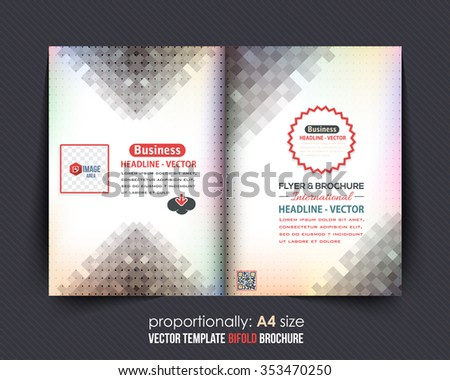 A4 Flyer and Bi-Fold Brochure Design. Corporate Leaflet, Clean Cover Template - stock vector