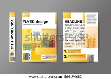 a 4 flyer design brochure template vector stock vector 564194683