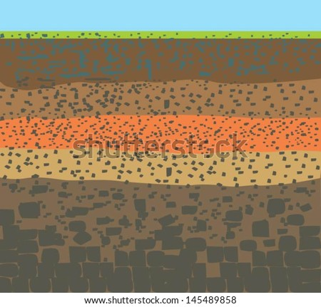 Earth layers stock images royalty free images vectors for Why the soil forms layers in water