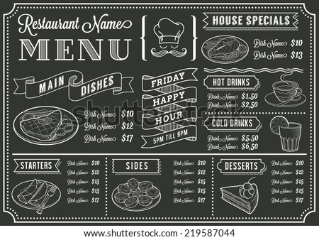 Chalkboard Menu Stock Images Royalty Free Images