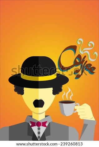 a gentlemen drink a cup of coffee