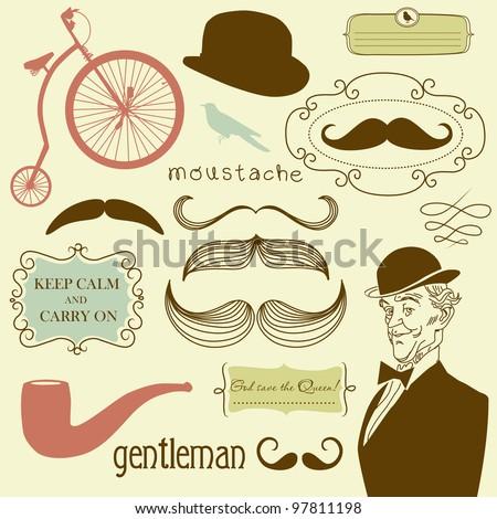 A Gentlemen's Club - stock vector