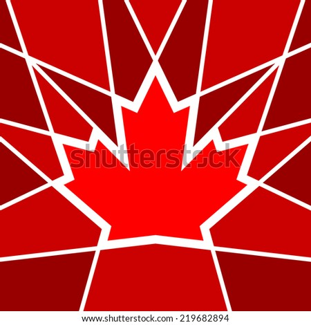 A geometric maple leaf design based on the Canadian icon. - stock vector