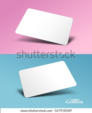 Gift card template placeholder 3d effect stock vector 567918589 a gift card template placeholder with a 3d effect vector illustration negle Gallery