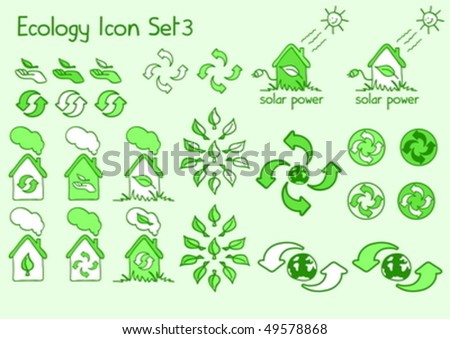 A great set of ecology icons in doodle style - stock vector