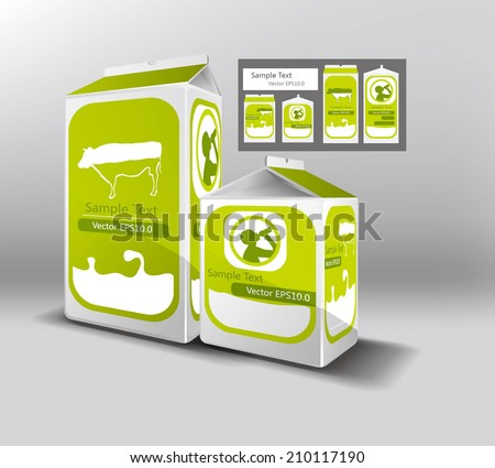 A group of beverage packaging design, the file format for EPS10.0 fully editable. - stock vector