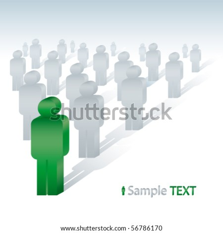 A group of people - stock vector
