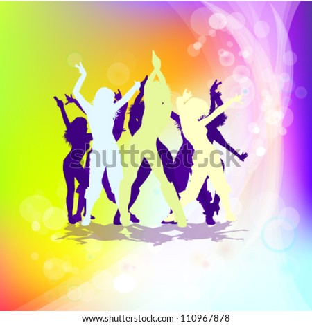 A group of people having a good time - stock vector