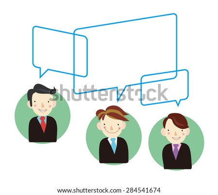 A group of people to communicate  - stock vector