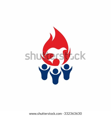 A group of people who worship God - stock vector