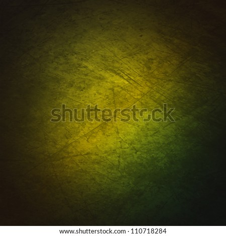 A grunge textured background with a gradient of green. - stock vector