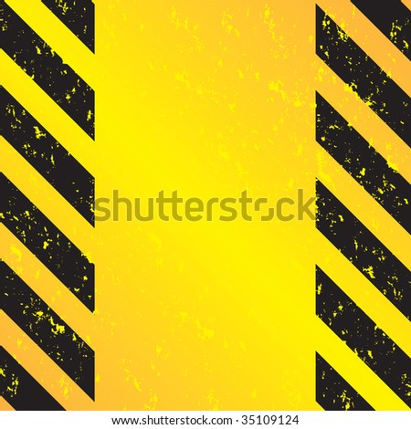 A grungy and worn hazard stripes texture.  This vector image is fully editable. - stock vector