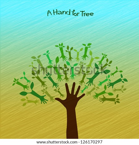 A hand for tree