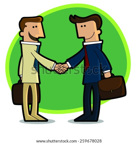 A handshake between two businessmen who agreed - stock vector