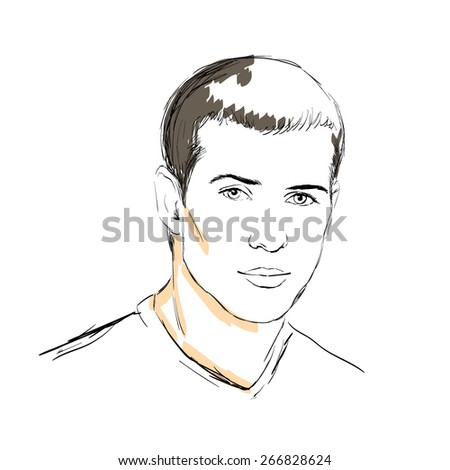 A handsome young man - stock vector