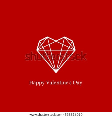 Heart Geometry Shape Valentines Day Stock Vector 538816090