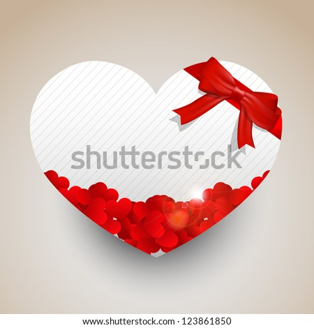 A heat shape paper not for valentines day. - stock vector