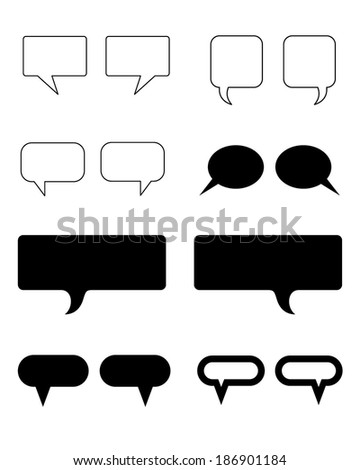 A huge collection of vector speech and communication bubbles - stock vector