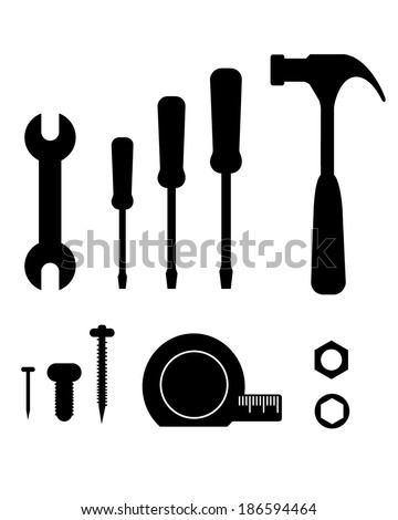 A huge collection of vector tools - stock vector