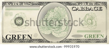 A humorous image of banknotes, vector illustration - stock vector