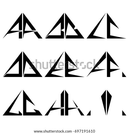 Ai Half Triangle Shapes Symbol Letter Stock Vector 2018 697191610
