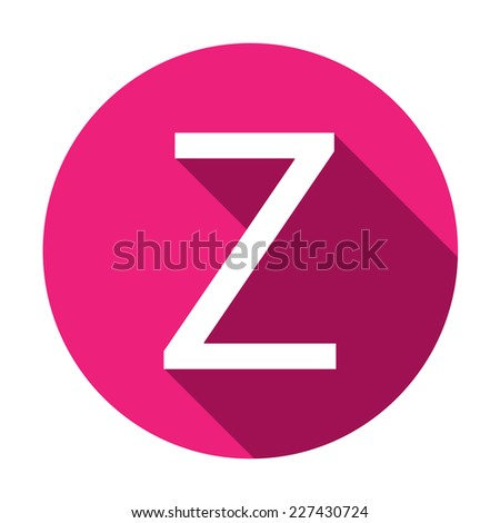 A Illustration of a Letter with a Long Shadow - Letter Z - stock vector