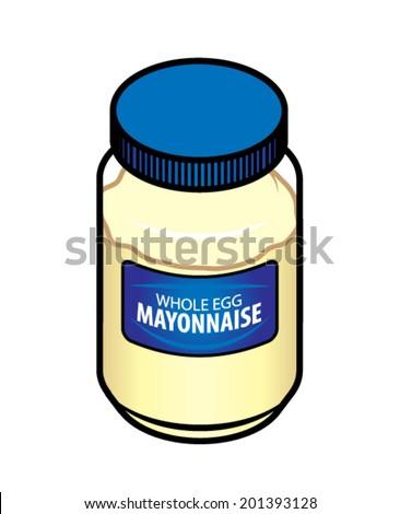 jar of whole egg mayonnaise.