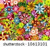 a jungle flower backround - stock vector