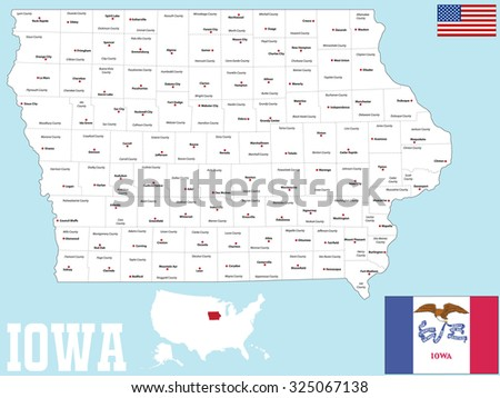 Iowa Map Stock Images RoyaltyFree Images Vectors Shutterstock - State of iowa map