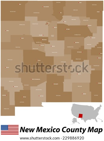 Santa Rosa County Map Stock Images RoyaltyFree Images Vectors