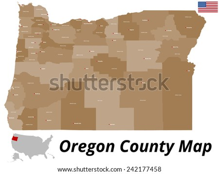 Oregon County Map Stock Images RoyaltyFree Images Vectors - Oregon county maps