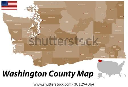 Washington State Map Stock Images RoyaltyFree Images Vectors - Detailed map of washington state