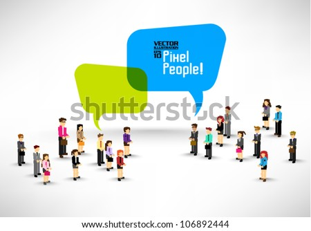 a large group of business people gather together vector icon design