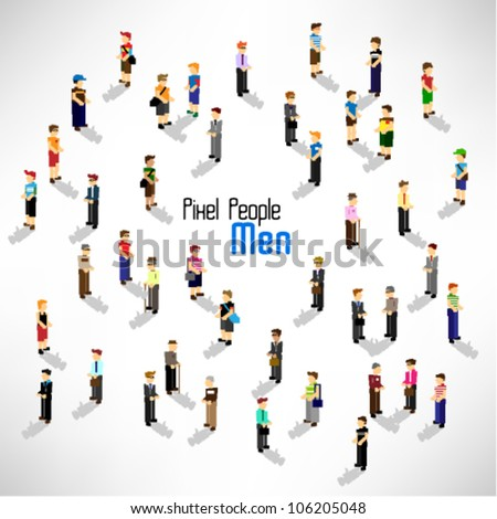 a large group of people and men vector icon design - stock vector