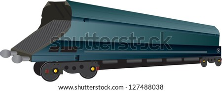 A Large Railway Coal Hopper Wagon - stock vector