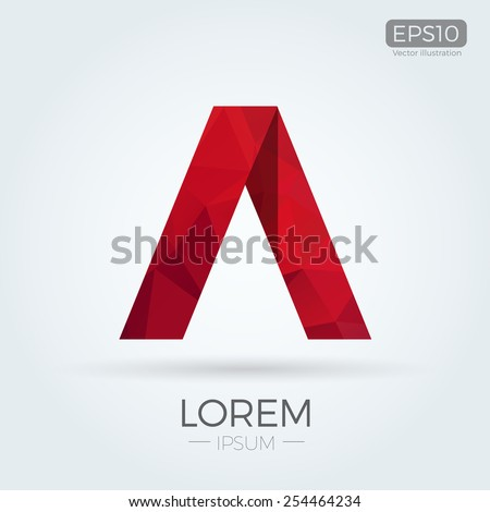 A Letter logo Abstract Polygonal design for Corporate Business Identity - stock vector