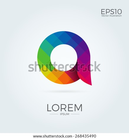 A Letter Logo Icon Mosaic Pattern Design template Element - stock vector