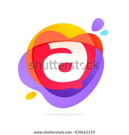 A letter logo with speech bubble and hearts. Vector typeface for communication app icon, corporate identity, card, labels or posters. - stock vector