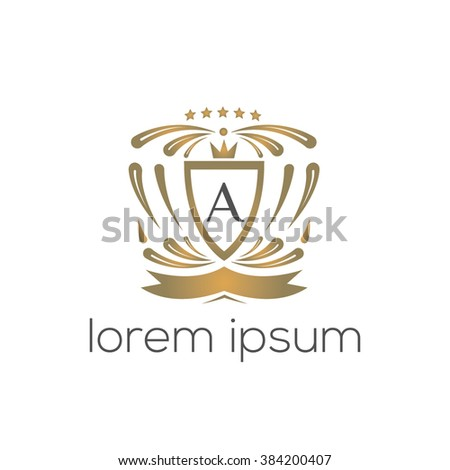 A letter vector logo template (sign, symbol, emblem, ornament, blazon)