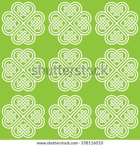 A light monochromatic seamless pattern made of Celtic style knots, vector illustration